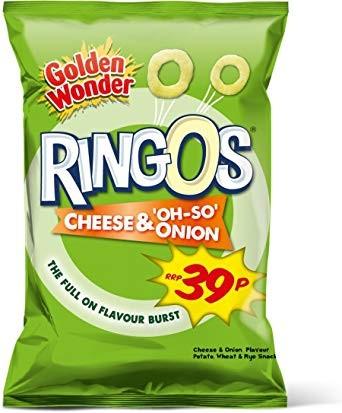 Golden Wonder Ringo's Cheese & Onion
