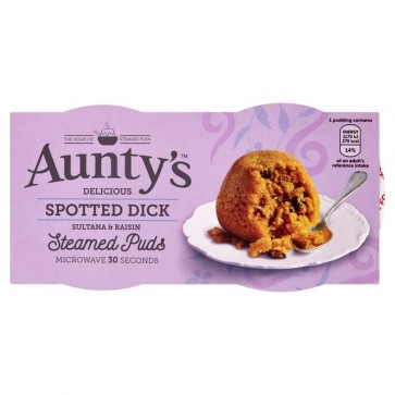 Auntys Spotted Dick Pudding Duo