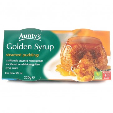 Auntys Golden Syrup Pudding Duo