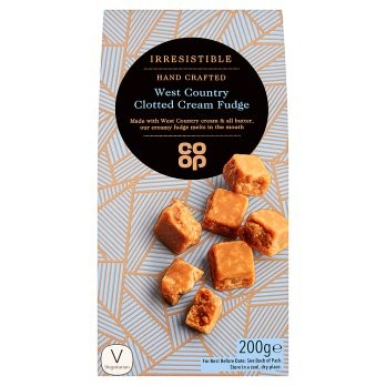 Co Op Irresistible Clotted Cream Fudge