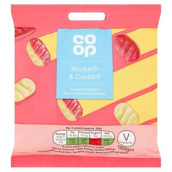 Co Op Rhubarb & Custard Bag