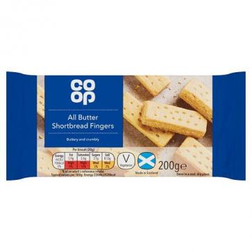 Co Op All Butter Shortbread Fingers