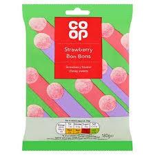 Co Op Strawberry Bon Bons Bag