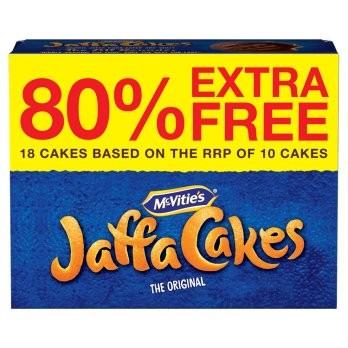McVities Jaffa Cakes - 80% FREE BONUS PACK