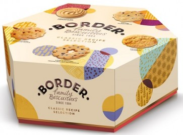 Border Scottish Biscuits Hexagon Carton