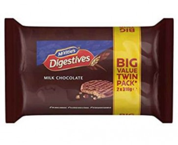 McVities Milk Chocolate Digestives - Value 2pk