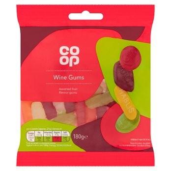 Co Op Wine Gums Bag