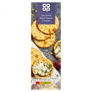 Co Op Sea Salt & Cracked Pepper Crackers