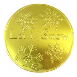 Let It Snow Giant Gold Chocolate Coin