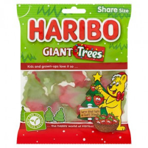 Haribo Giant Christmas Trees Bag Share Size