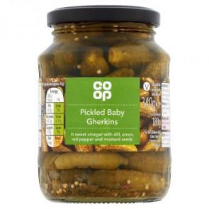 Co Op Pickled Baby Gherkins
