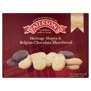 Paterson Heritage Shapes & Belgian Chocolate Shortbread