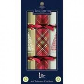 Tom Smith Red & Gold Christmas Crackers 6pk