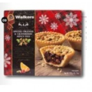 Walkers Cranberry & Spiced Orange Mince Pies *NEW*
