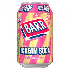 Barr Cream Soda Can