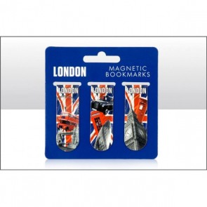 Magnetic Bookmarks - London Theme - Set of 3