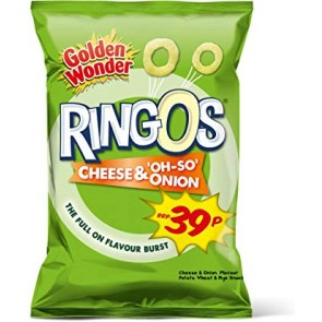 Golden Wonder Ringo's Cheese & Onion