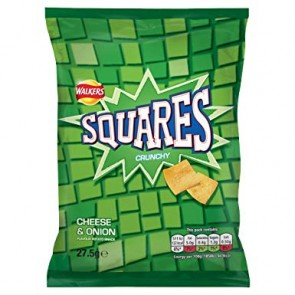 Walkers Squares Cheese & Onion