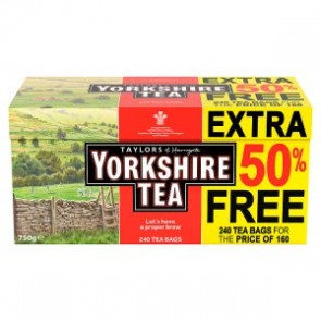 Yorkshire Tea Red Label 160 - Bonus Pack 50% Free