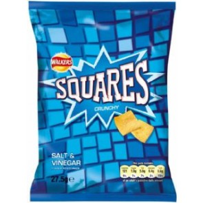 Walkers Squares Salt & Vinegar