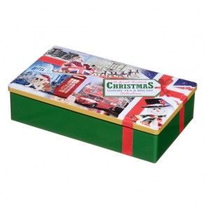 A Great British Christmas Luxury Tea & Biscuits Tin