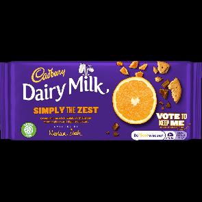 Cadbury Dairy Milk Simply The Zest - Medium Bar