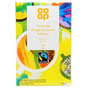 Co Op Lemon Ginger Teabags