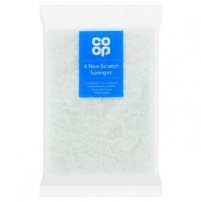 Co Op Non Scratch Sponge Scourers - 4pk