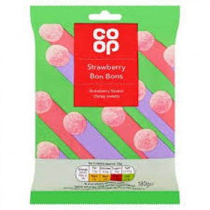 Co Op Strawberry Bon Bons Bag