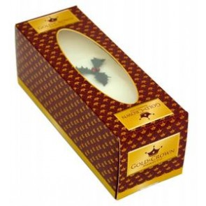Gold Crown Top Iced Christmas Cake - Slab