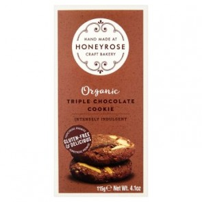 Honeyrose Organic Gluten Free Triple Choclate Cookies