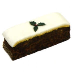 Gold Crown Top Iced Christmas Cake - Slab