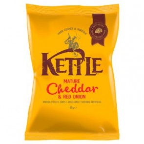 UK Kettle Chips - Mature Cheddar & Red Onion