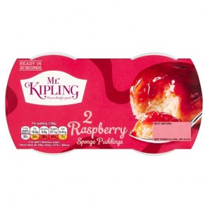 Mr Kipling Raspberry Sponge Pudding Duo