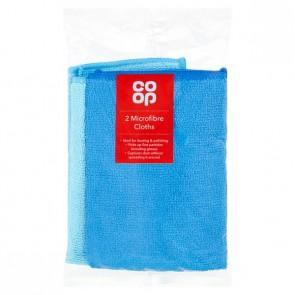 Co Op Microfibre Cloths 2pk