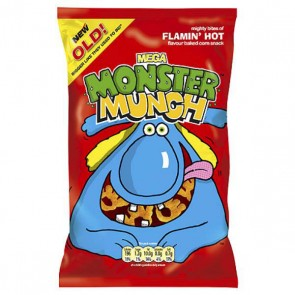 Monster Munch Flaming Hot Crisp Grab Bag Size