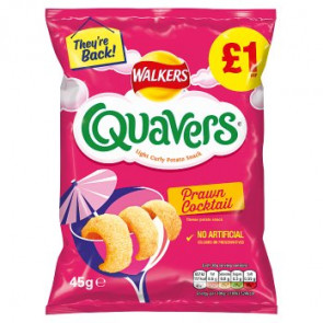 Walkers Quavers Prawn Cocktail Large Bag -  Limited Edition