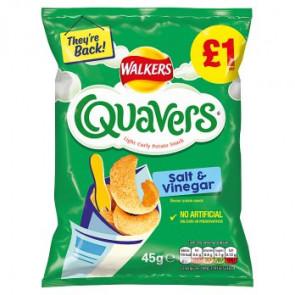 Walkers Quavers Salt Vinegar Large Bag - Limited Edition