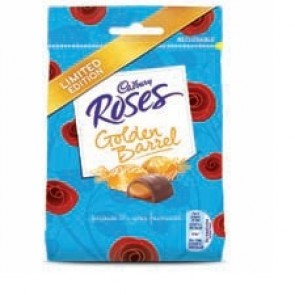 Cadbury Roses Golden Barrel Bag